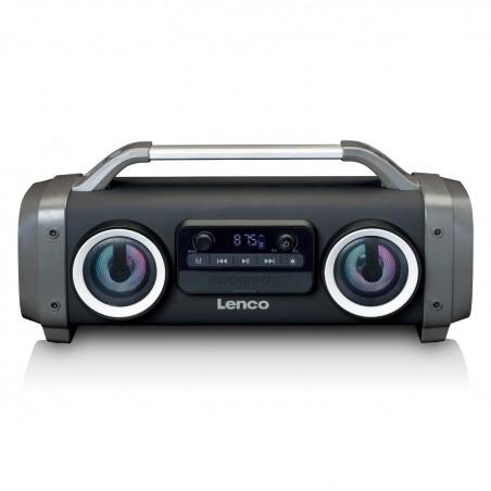 Lenco Bluetooth Speaker FM radio USB and SD  SPR-100BK